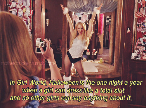 a scene from the movie mean girls with the quote - Halloween Quote Mean Girls